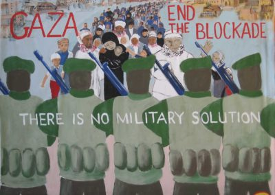 ARRT!, sept.2014 030Gaza, end the blockade, for BDS and Codepink, for Common Ground Fair