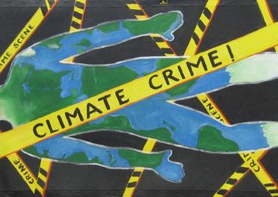 Climate crime scene