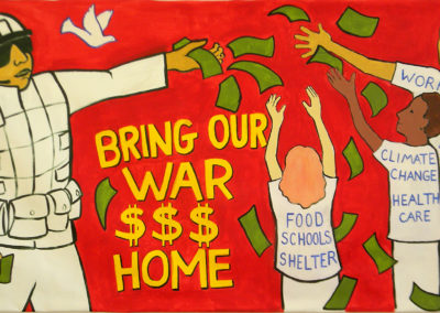 bring our war dollars home banner