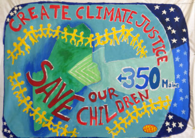 create climate justice,save our children