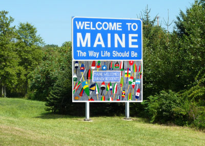 welcome sign for new residents