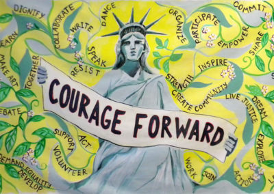 womens march courage forward