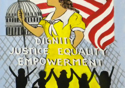 womens march dignity, justice,equality